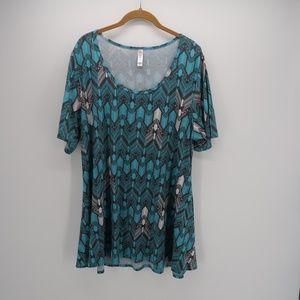 LuLaRoe Women's Geometric Print Top Blouse Size XL